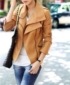 Leather jacket perfect for layering