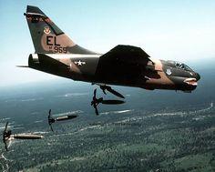 A7 Corsair Bombing in Vietnam