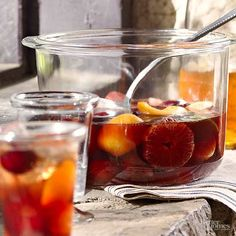 Welcome fall (or celebrate any affair) with a slightly spiced red sangria recipe that fits right in with crisp days and cool nights. The combination of figs, plums, and apricots lends complex flavor to each glass./