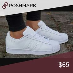 All White Adidas Superstar BNWOB Brand new without box/tags, never been worn all white superstars. Adidas Shoes Sneakers