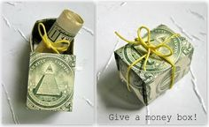 Money Gift Ideas | ... how to make a money box thecraftsdept marthastewart sweet give a money
