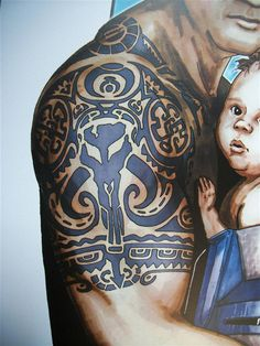 Jango Fett Boba Fett Tattoo RARE Art Print Convention Exclusive ...