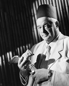 Sydney Greenstreet (1879-1954) was a key cast member in movies such as  Casablanca, The Died With Their Boots On, Across The Pacific, Christmas in Connecticut, The Maltese Falcon and many others.