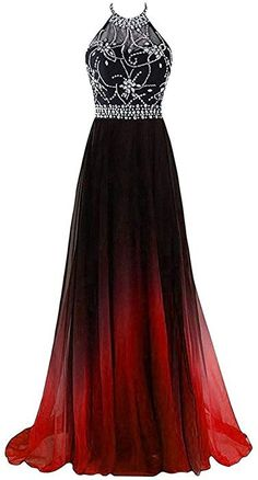 A-line Halter Gradient Chiffon Long Prom Dress Ombre Beads E.- A-line Halter Gradient Chiffon Long Prom Dress Ombre Beads Evening … A-line Halter Gradient Chiffon Long Prom Dress Ombre Beads Evening - Pretty Prom Dresses, Prom Dresses For Teens, Grad Dresses, Dance Dresses, Ball Dresses, Beautiful Dresses, Ball Gowns, Formal Dresses, Long Dresses