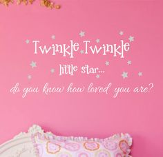 Twinkle Twinkle Little StarVinyl Wall Decal by landbgraphics, $15.00