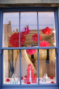 More than window dressing - Beautiful window displays at White Rose bridal boutique, Chipping Campden @The White Rose