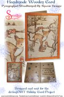Wooden Handmade Holiday Card by snazzie-designz on DeviantArt Handmade Wooden, Handmade Crafts, Pyrography, Wood Burning, Squirrel, Holiday Cards, Joy, Seasons, Gallery