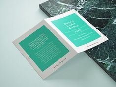 Free bi fold leaflet mockup