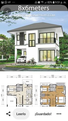 Small House Layout, Small Modern House Plans, Small House Design, House Layouts, 2 Storey House Design, Bungalow House Design, Sims House Plans, Dream House Plans, Philippines House Design