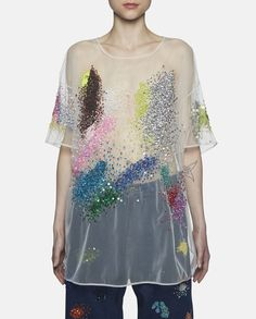 Oversized Sequined Organza Top by Ashish SS16. - SHOWstudio / MACHINE-A
