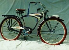1930 Schwinn Bicycle | Schwinn Excelsior...all those arcs and that interesting front fork ...