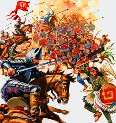 Tlaxcalans battle the Spanish
