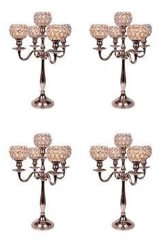 Crystal Globe Silver 5 Arm Candelabras Wholesale Bulk Votive Tealight Candle Holders Wedding Centrepieces 4 Pcs Lot * You can find more details by visiting the image link. Candle Holders Wedding, Tealight Candle Holders, Votive Candles, Candlestick Holders, Candelabra Wedding Centerpieces, Crystal Candelabra, Wedding Decorations, Table Decorations, Beauty And The Beast Theme