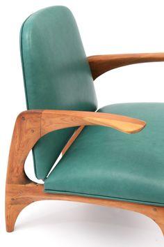 Oak & Leather Prototype Chair | Allen Ditson