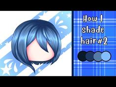 Hair Shading Tutorial#2 | ibisPaint X | Gacha life - YouTube Digital Painting Tutorials, Digital Art Tutorial, Art Tutorials, Drawing Hair Tutorial, Sketches Tutorial, Pelo Anime, How To Shade, Cute Anime Character, Character Outfits