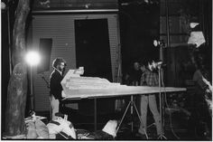 Lighting the Star Destroyer miniature at Industrial Light and Magic's original home in Van Nuys, Calif.