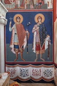 Byzantine Icons, Byzantine Art, Religious Icons, Religious Art, Church Interior, Orthodox Icons, Christianity, Saints, Painting