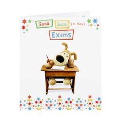 Boofle Good Luck In your Exams Card
