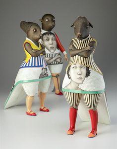 Sergei Isupov (b. 1963), Russian-born ceramic artist. From the Humanimals series.
