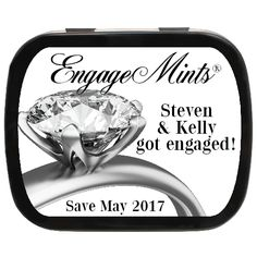 Engagement Ring Personalized Mint Tins - Save the Date Favor Idea Engagement Party Favors, Wedding Favors, Engagement Rings, Mint Tins, Personalized Party Favors, Balloon Decorations, Save The Date, Party Ideas, Fresh