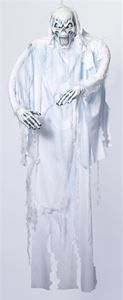 White Ghost Hanging Prop 6ft - 324703 | trendyhalloween.com #halloween #halloweenprops #props #ghosts