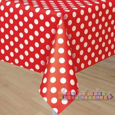 Red Polka Dots Plastic Table Cover (1ct)