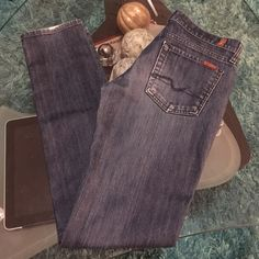 7 for all mankind skinny jeans Good condition 7 for all mankind skinny jeans size 29 inseam 32.5 7 for all Mankind Jeans Skinny