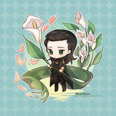 Loki by remirror逆镜 Loki Art, Thor X Loki, Marvel Avengers, Marvel Comics, Baby Marvel, Baby Avengers, Baby Loki, Avengers Cartoon, Tom Hiddleston Loki