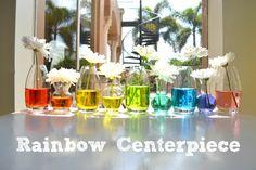 Cute simple Rainbow Centerpiece