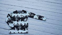 Liljan Lumo: Maahiset ja Menninkäiset -trikoopusero Made by Tiina Lilja/ Liljan Lumo Fabric: Verson Puoti Pattern: Suuri Käsityö
