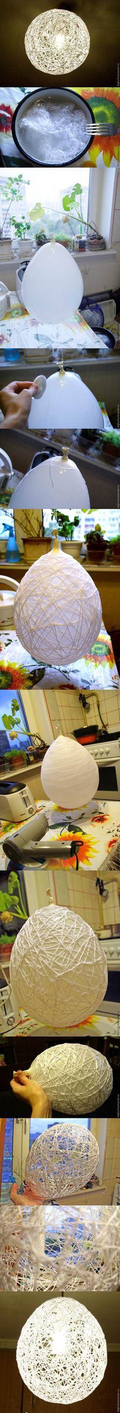 DIY Unique Chandelier from Yarn   iCreativeIdeas.com Like Us on Facebook ==> https://www.facebook.com/icreativeideas