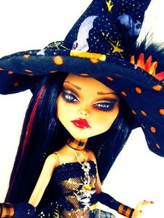 Custom OOAK Cleo Denile Witch Monster High Doll Repaint Costume New Faceup | eBay