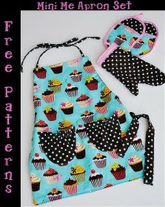 Free pattern: Mini-Me Apron Set for kitchen pretend · Sewing | CraftGossip.com