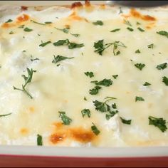 Cheesy Cauliflower Alfredo Bake recipe – creamy and saucy casserole with cauliflower and garlicky Alfredo sauce. Serve as side dish or turn into a full meal by adding chicken or beans. Cauliflower Dishes, Cheesy Cauliflower, Vegetable Dishes, Recipes With Cauliflower, Cooking Cauliflower, Cauliflower Casserole, Broccoli Casserole, Side Recipes, Vegetable Recipes