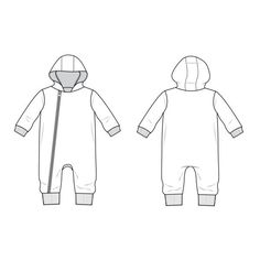 hood zip coverall : 96 - Brindille & Twig