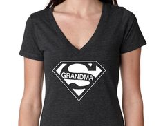 Super Grandma V-Neck, Birthday shirt, Mom Shirt, Vintage Age,,Birthday T-Shirt Idea, rad shirts, instagram fashion funny tops,Paw Patrol