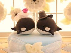 Killer Whale Wedding Topper
