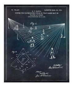 Look what I found on #zulily! Baseball Field Lighting 1904 Art Print #zulilyfinds