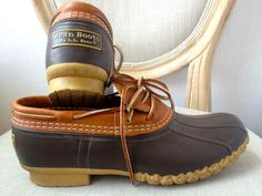 A Preppy Handbook Classic! L L Bean Duck Boots - Just add your Barbour, and umbrella, and you're set!