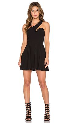 6ab0565ddf Shop for NBD x Naven Twins Back It Up Fit   Flare Dress in Black at
