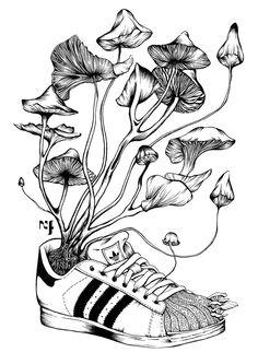 Savez-vous planter les Shoes ? Illustration Nadia Fernandes on Behance