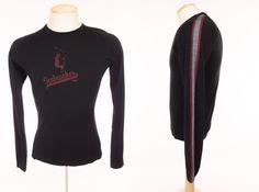 ICEBREAKER Mens Bodyfit 200 Shirt M Medium Black Striped Merino Wool Base Layer #Icebreaker #BaseLayers