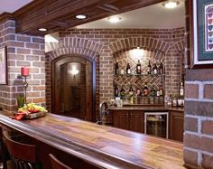 Basement Bar And Wine Cellar By MJ Whelan Construction, MI