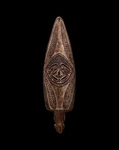 Truly old pre-contact, stone-carved spirit boards from the Papuan Gulf