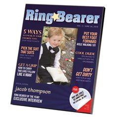 Ring Bearer Magazine Cover Frame | #exclusivelyweddings | #ringbearergifts