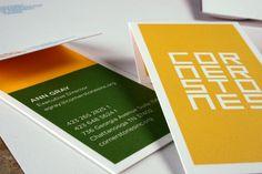 Business card closeup for Cornerstones