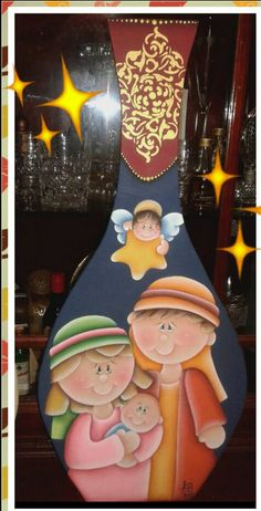 Christmas Ornament Crafts, Christmas Nativity, Christmas Projects, Tole Painting, Fabric Painting, Cartoon People, Country Paintings, Wooden Crafts, Craft Sale