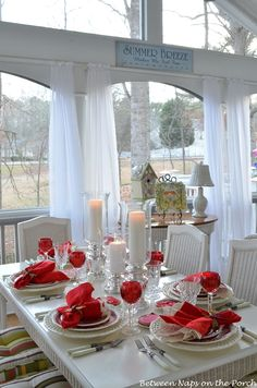 Valentine's Day Table Setting Tablescape with Spode Copeland at betweennapsontheporch.net