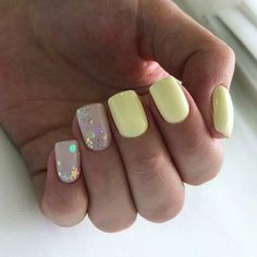 Best 31 Nail Designs For This Season. Check out 31 of the Best Nail Art Designs for These Nail art designs are actually the best Nail art designs Gelish Nails, Nail Manicure, Chic Nails, Trendy Nails, Get Nails, Love Nails, Yellow Nails, Pink Nails, Cool Nail Designs