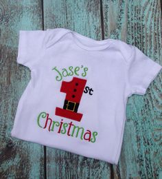 First Christmas onesie or t-shirt. 1st Christmas shirt on Etsy, $14.00